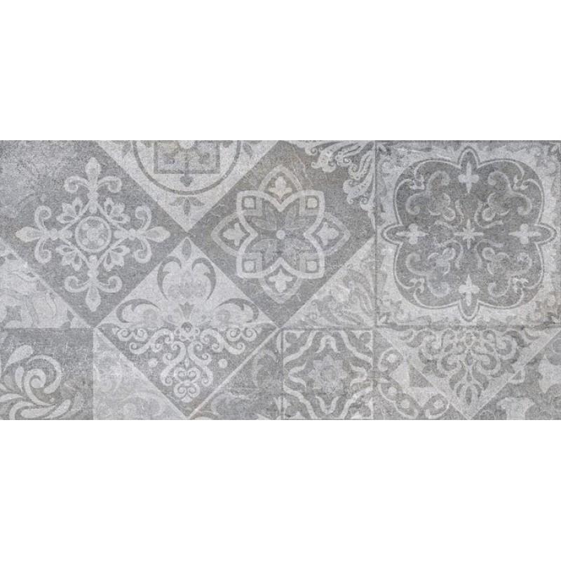 πλακακια μπανιου - πλακακια κουζινας - πλακακια patchwork - ΠΛΑΚΑΚΙ  DÉCOR ROCK GRAFITO  25x50